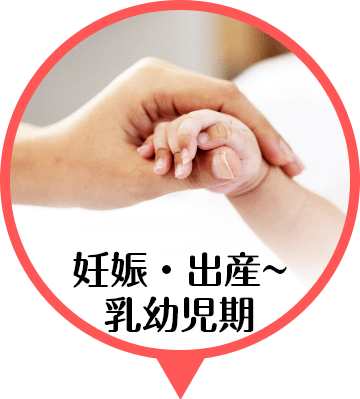 妊娠・出産~乳幼児期
